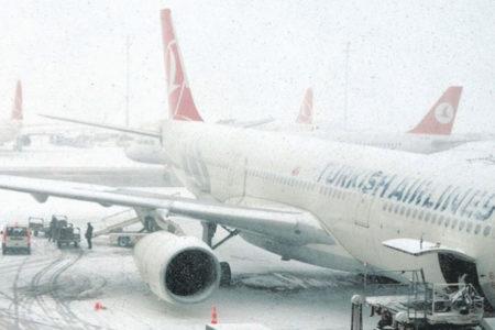 Yurt genelinde 463 uçak seferi iptal edildi