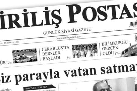 Hükümete yakın medya basın bültenine dönüştü