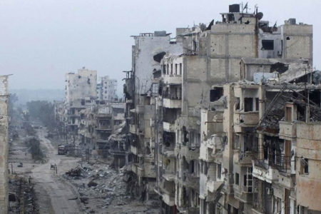 Suriye'de Humus'tan geriye kalanlar