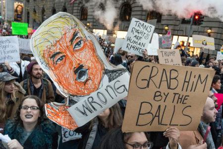 Washington'da Trump karşıtları, polisle çatıştı: 220 kişi gözaltına alındı
