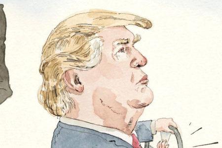 The New Yorker Trump'ı çizdi: Oyuncak arabada sallanıyor