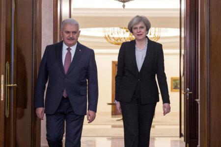 İngiltere Başbakanı Theresa May Çankaya'da