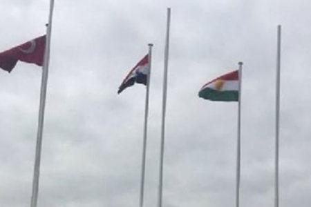 'Kürdistan bayrağı Türkiye'de ilk kez gönderde'