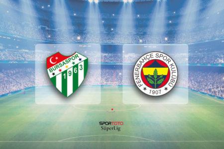 Bursa'da iki penaltı bir kırmızı: Bursaspor 1-1 Fenerbahçe