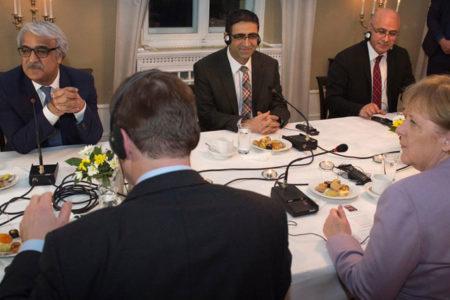 Merkel, CHP ve HDP'yle görüştü