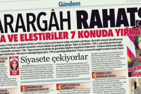 Akşam yazarları Hürriyet'i hedef aldı: Teröristlerle ilişkinizi bu manşetlerle örtemezsiniz