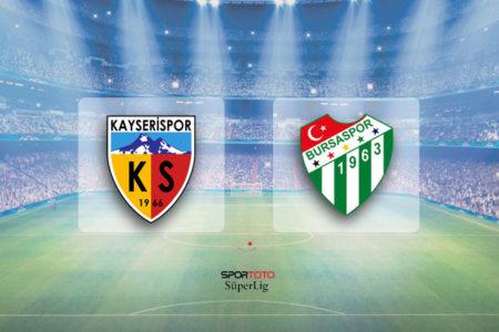 Sergen'li Kayserispor durdurulamıyor: Kayserispor 2-0 Bursaspor