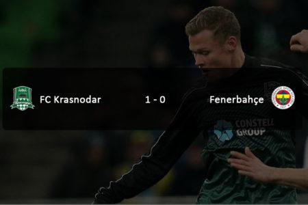 Fenerbahçe, Krasnodar deplasmanından eli boş döndü