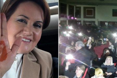 Meral Akşener'in konferansı polis ve otel yönetimi tarafından engellenmek istendi