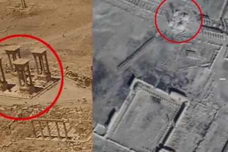 Rusya Savunma Bakanlığı, Palmira'daki tahribatın görüntülerini yayınladı