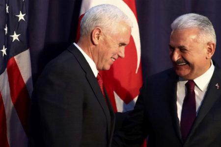 Başbakan Yıldırım-ABD Başkan Yardımcısı Pence görüşmesi başladı
