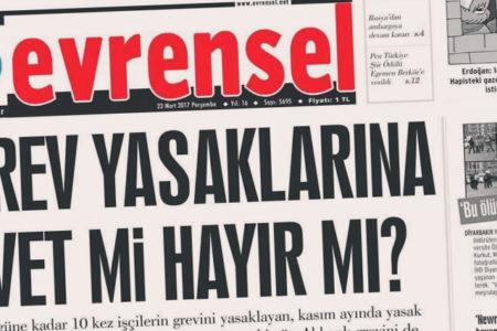Evrensel'e 'cumhurbaşkanına hakaret' cezası
