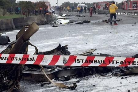 İstanbul'da helikopter düştü: 5 kişi hayatını kaybetti