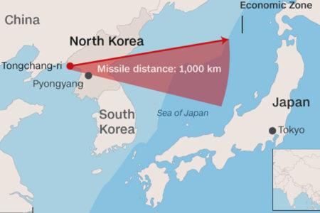 Kuzey Kore yeni bir balistik füze denemesi yaptı