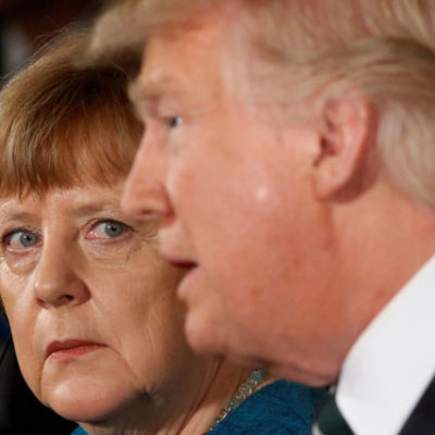 Trump: Merkel ile harika bir toplantı yaptım