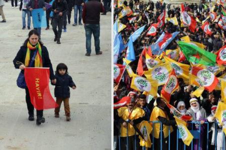 Diyarbakır Newroz'unda 'hayır' ve 'seni başkan yaptırmayacağız' mesajı