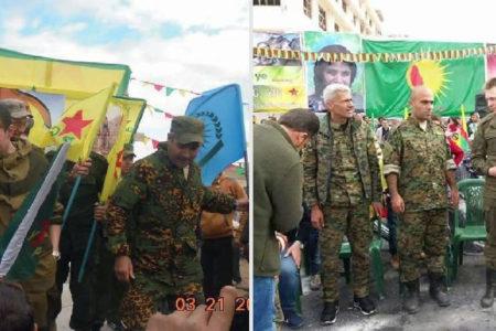 Rus askeri Halep'te YPG ile Newroz kutladı