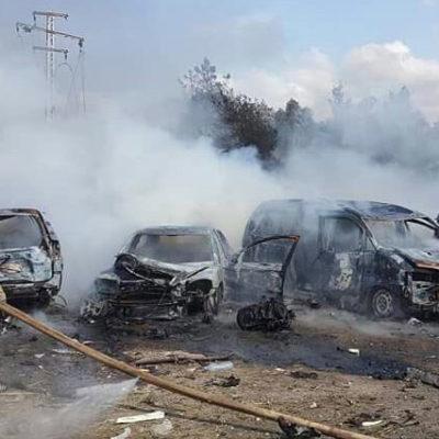 Halep'te sivillerin tahliye edildiği otobüs konvoyuna intihar saldırısı: 126 ölü