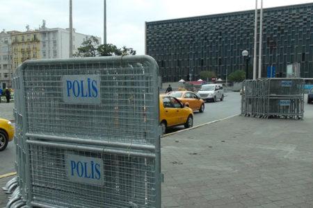 Taksim'de 1 Mayıs hazırlıkları: Bariyerler