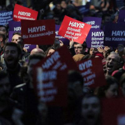 Tek adam rejimi ve YSK'nın kararına protestolar üçüncü gününde