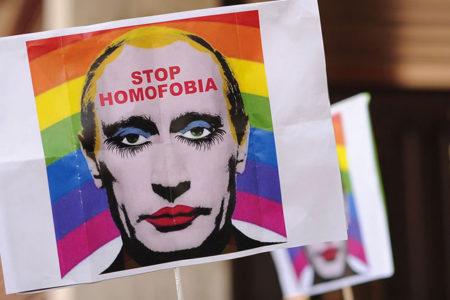 Putin'i eşcinsel bir palyaço olarak gösteren fotoğraf yasaklandı
