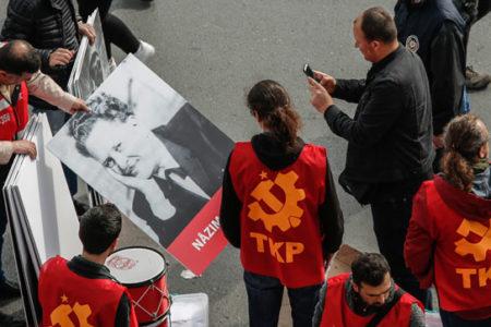 Polis, pankartları tek tek fotoğrafladı