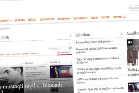 Azerbaycan'da çok sayıda yayın kuruluşunun internet sitesine erişim engeli getirildi