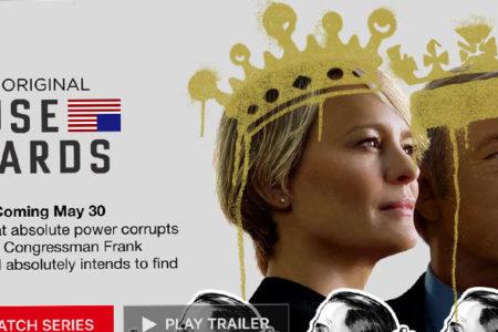 House of Cards'ın yeni sezonu 30 Mayıs'ta