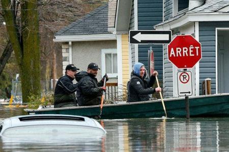 Montreal sele teslim: Binlerce ev sular altında kaldı