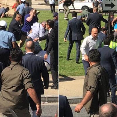 Erdoğan'ın Washington ziyaretinde göstericilere saldıran 2 kişi tutuklandı