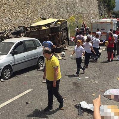Marmaris'te tur otobüsü devrildi: 23 ölü, 11 yaralı