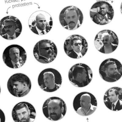 NYT Erdoğan'ın korumalarını tek tek tespit etti: Bu tekme atan, bu yumruklayan…