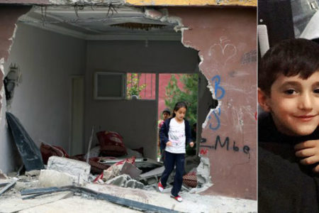 Polis panzeri eve girdi, iki çocuk uykudayken can verdi