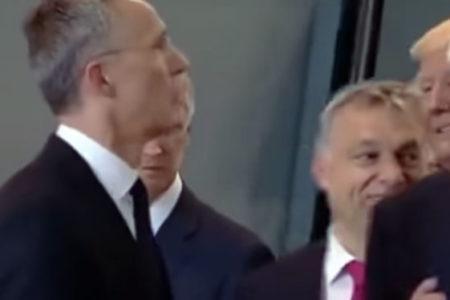 Trump, Karadağ Başkanı'nı itekleyerek ön sıraya geçti