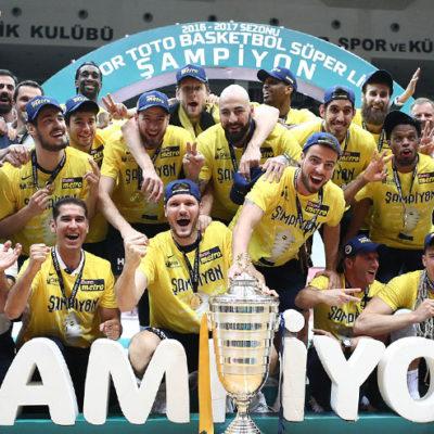 Basketbol Süper Ligi'nde 2016/17 sezonu şampiyonu Fenerbahçe