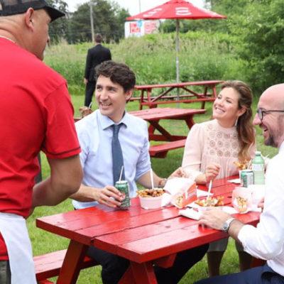 Kanada başbakanı ve Belçika başbakanı, öğle yemeğinde böyle buluştu