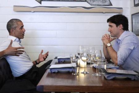 Obama ve Trudeau akşam yemeğinde bir araya geldi