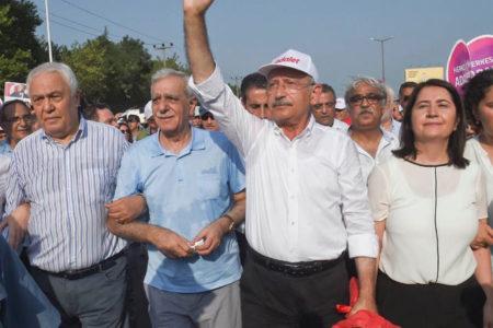 HDP'den 'Adalet Yürüyüşü'ne destek ziyareti