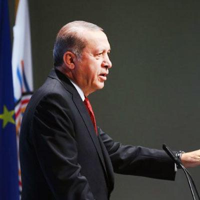 Erdoğan basın toplantısını iptal etti