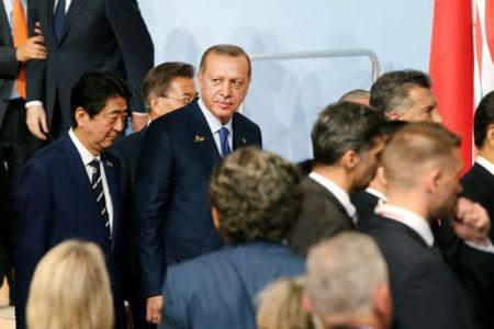 İstediği konuşmayı yapamayan Erdoğan, G-20'nin aile fotoğrafına da katılmadan Almanya'dan ayrıldı