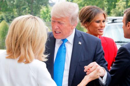 Trump'tan Macron'un eşine: Çok iyi durumdasın