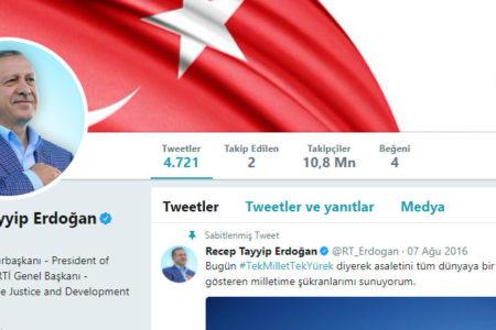 Erdoğan Twitter profilinden 'Cumhuriyet'i kaldırdı