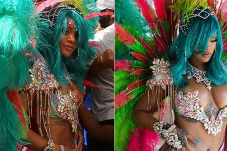 Rihanna Barbados'ta Crop Over Festivali'ne katıldı