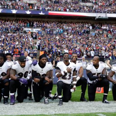 ABD'nin Ulusal Futbol Ligi NFL oyuncularından Trump'a karşı gösteri