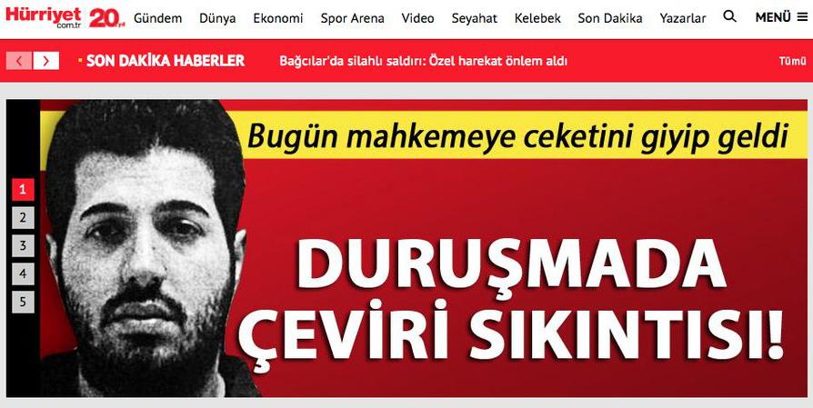 """Zarrab, """"Erdoğan'ın talimatıyla işleri yürüttüm"""" dedi, Hürriyet, 'çeviri sıkıntısı'na takıldı!"""