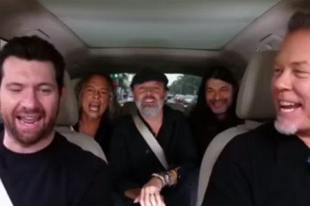Carpool Karaoke: Metallica üyeleri, Rihanna'nın 'Diamonds' şarkısını söyledi