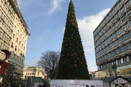 Belgrad'da Belediyenin Noel ağacının uçuk fiyatı halkı isyan ettirdi