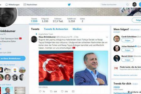 Spiegel'in genel yayın yönetmeninin Twitter hesabı hacklendi