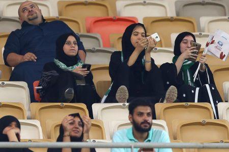 Suudi kadınlar ilk kez stadyumda maç izleyebildi