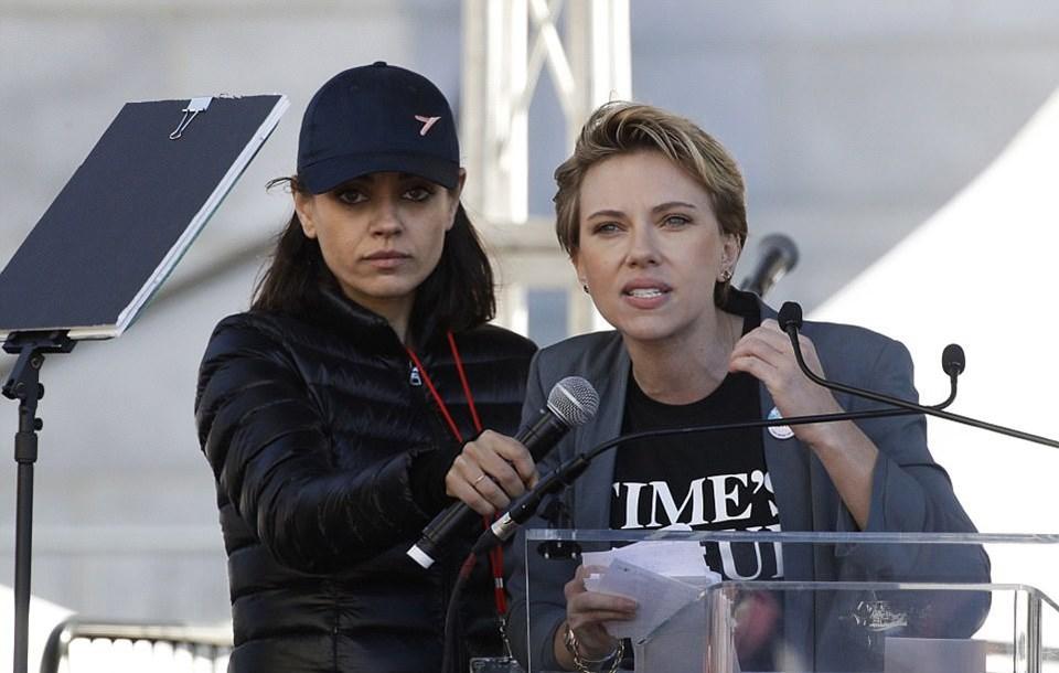 Scarlett Johansson'dan James Franco'ya: Time's Up rozetini geri ver